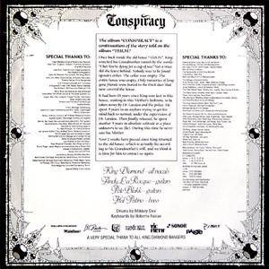 King Diamond: Conspiracy (LP) - Bild 2