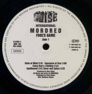 Mordred: Fool's Game (LP) - Bild 3
