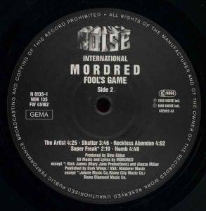 Mordred: Fool's Game (LP) - Bild 4