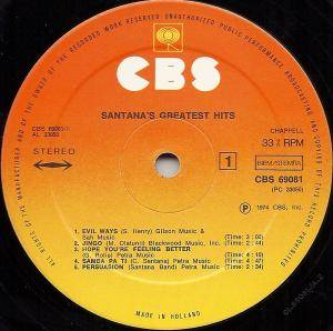 Santana: Santana's Greatest Hits (LP) - Bild 5