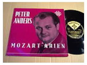Wolfgang Amadeus Mozart: Peter Anders Mozart-Arien - Cover
