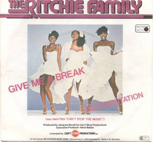 The Ritchie Family: Give Me A Break - Cover