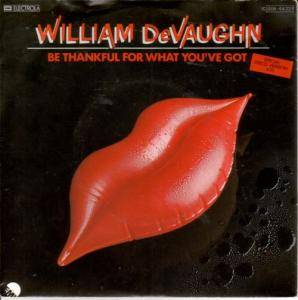 Cover - William DeVaughn: Be Thankful For What You've Got