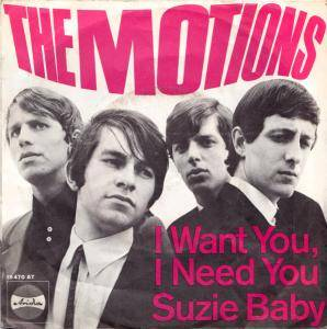 Cover - Motions, The: I Want You, I Need You