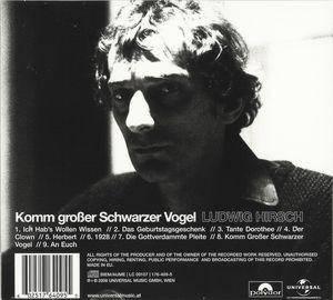 Ludwig Hirsch: Komm Grosser Schwarzer Vogel (CD) - Bild 2