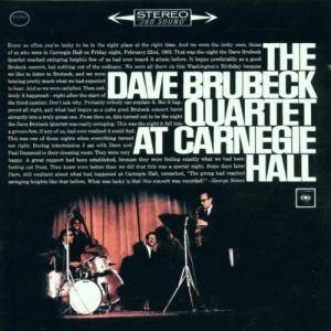 The Dave Brubeck Quartet: Dave Brubeck Quartet At Carnegie Hall, The - Cover