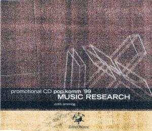 Music Research Promotional CD Pop.Komm '99 Zoth Ommog - Cover