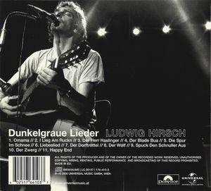 Ludwig Hirsch: Dunkelgraue Lieder (CD) - Bild 2