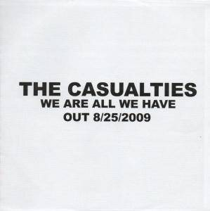 The Casualties: We Are All We Have - Cover
