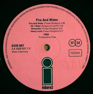 Free: Fire And Water (LP) - Bild 3