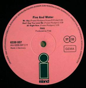 Free: Fire And Water (LP) - Bild 4