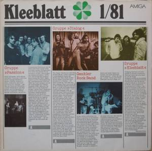 Cover - Gaukler Rock Band: Kleeblatt 1/1981
