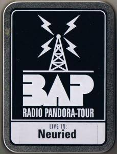 BAP: Radio Pandora-Tour - Cover