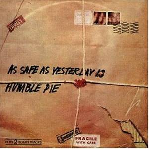 Humble Pie: As Safe As Yesterday Is - Cover