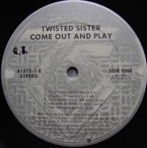 Twisted Sister: Come Out And Play (LP) - Bild 3