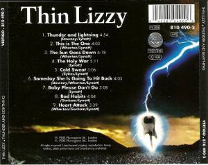 Thin Lizzy: Thunder And Lightning (CD) - Bild 2