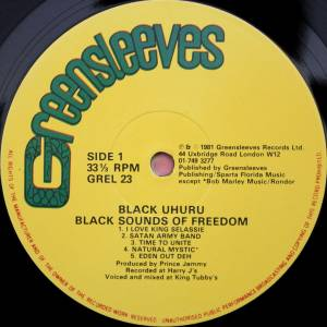 Black Uhuru: Black Sounds Of Freedom (LP) - Bild 3