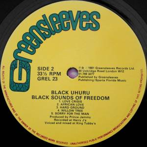 Black Uhuru: Black Sounds Of Freedom (LP) - Bild 4