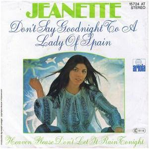 Cover - Jeanette: Don't Say Goodnight To A Lady Of Spain