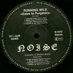Running Wild: Gates To Purgatory (LP) - Bild 4