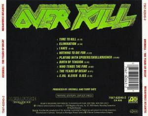 Overkill: The Years Of Decay (CD) - Bild 2