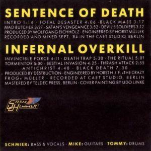 Destruction: Sentence Of Death / Infernal Overkill (CD) - Bild 3