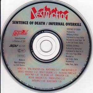 Destruction: Sentence Of Death / Infernal Overkill (CD) - Bild 4