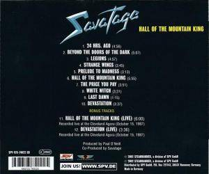 Savatage: Hall Of The Mountain King (CD) - Bild 4