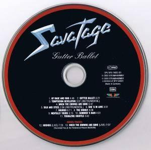 Savatage Gutter Ballet Cd 2002 Re Release