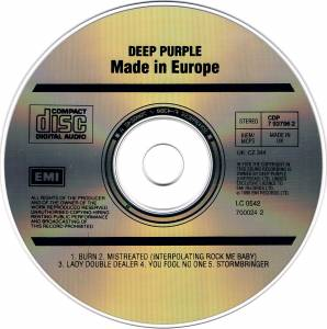 Deep Purple: Made In Europe (CD) - Bild 3