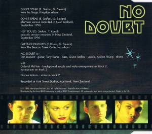No Doubt: Don't Speak (Single-CD) - Bild 3