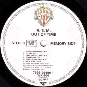 R.E.M.: Out Of Time (LP) - Bild 4