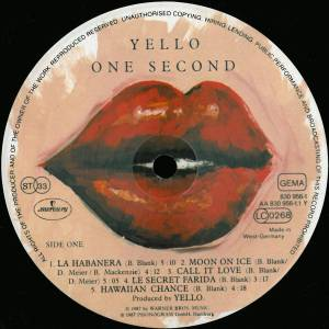 Yello: One Second (LP) - Bild 3