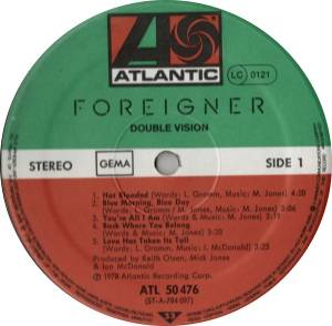 Foreigner: Double Vision (LP) - Bild 2