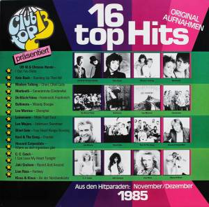 Cover - Blind Date: Club Top 13 - 16 Top Hits - November / Dezember 1985