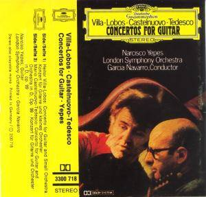 Cover - Mario Castelnuovo-Tedesco: Concertos For Guitar - Narcisco Yepes