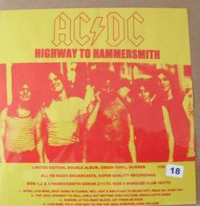 AC/DC: Highway To Hammersmith - Cover
