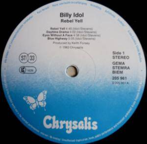 Billy Idol: Rebel Yell (LP) - Bild 5