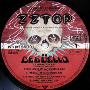 ZZ Top: Degüello (LP) - Bild 5