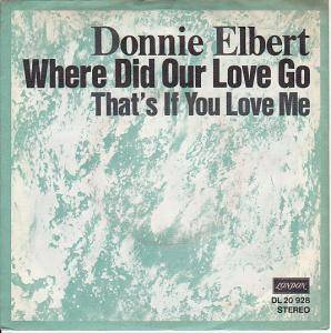 Cover - Donnie Elbert: Where Did Our Love Go