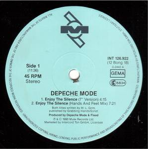 "Depeche Mode: Enjoy The Silence (12"") - Bild 3"