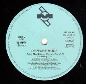 "Depeche Mode: Enjoy The Silence (12"") - Bild 4"