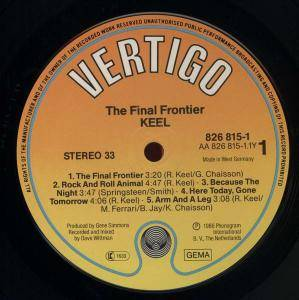 Keel: The Final Frontier (LP) - Bild 3
