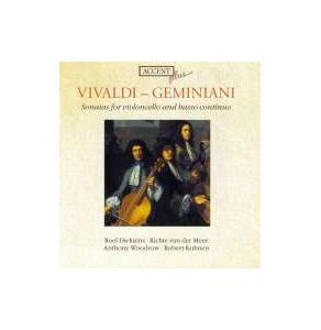 Cover - Francesco Geminiani: Vivaldi - Geminiani - Sonatas For Violoncello And Basso Continuo