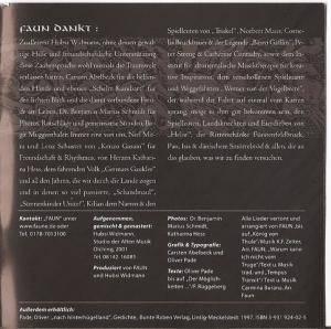 Schön Faun: Zaubersprüche (CD)   Bild 6 ...