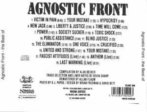 Agnostic Front: To Be Continued - The Best Of (CD) - Bild 2