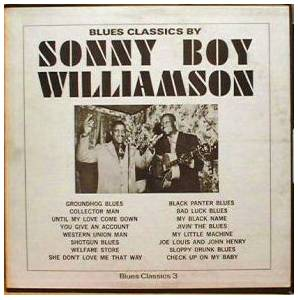 Cover - Sonny Boy Williamson I: Blues Classics By Sonny Boy Williamson
