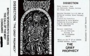 Cover - Dissection: Grief Prophecy, The