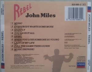 John Miles: Rebel (CD) - Bild 3