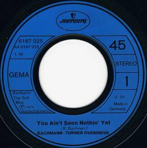 "Bachman-Turner Overdrive: You Ain't Seen Nothin' Yet (7"") - Bild 3"